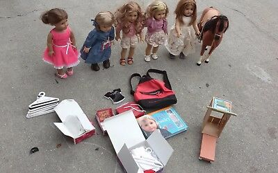 Lot of 5  American Girl Dolls-Horse-Accessories