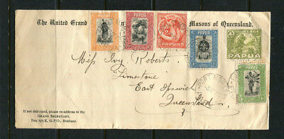 Papua 1933 Stamp Cover Fr0M The United Grand Masons Of Qld High Cat.val