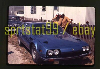 1972 Sebring 12 Hours - Blue Lamborghini Jarama - Vintage 35mm Race Slide