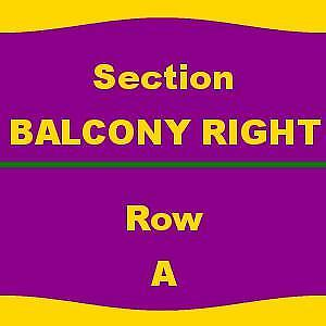 1-6 TICKETS 4/15/18 Waitress Au-Rene Theater - Broward Ctr For The Perf Arts