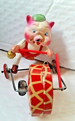 Vintage Tin and celluloid Wind-up by sYy Japan for parts or repair ~ Ray Rohr