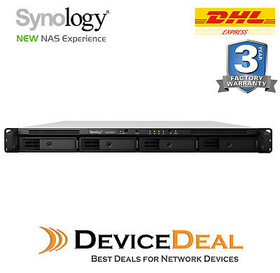 Synology Rackstation RS815RP+ Series NAS - 4 Bays - Quad Core 2.4Ghz CPU - 2GB