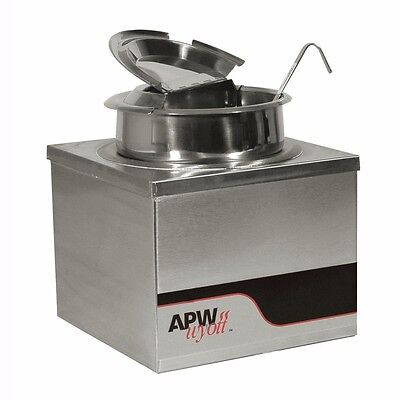 Food Warmer, electric, countertop, 4-quart round pan, wet or dry, APW Wyott W-4B