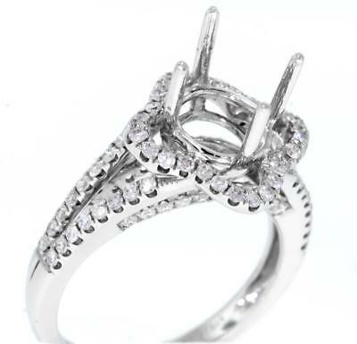 Ring Setting 0.79ct Diamond Engagement Semi Mount 18k White Gold