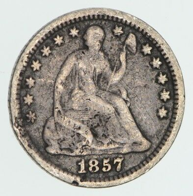 Great Detail - 1857-O Seated Liberty Half Dime - Early American Type Coin *596