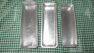 3x Vintage Aluminium Loaf / Ice cream Tins