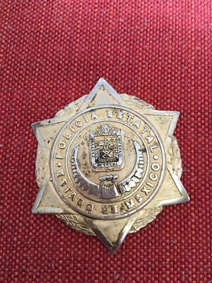 Vintage Obsolete Badge State Police State of Mexico MEXICO!