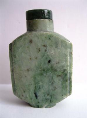 Antique CARVED JADE SNUFF BOTTLE w/Appraisal for $350-$500 ~ 100 Years Old