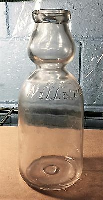 RARE** WILLARDS CREAM TOP MILK BOTTLE - Embossed Quart, - Pat Mar 3, 1925