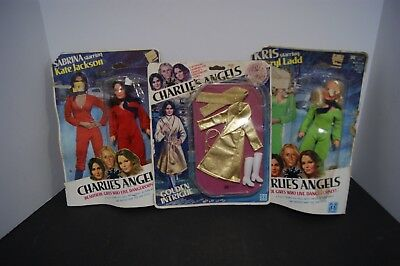 1977 Charlies Angels Dolls And Outfit In Original Package Kris Doll, Sabrina Dol