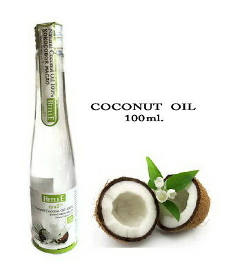 Beelle Natural Coconut Oil 100% For Eat, Skin, Hair Organic Cold-Pressed Virgin