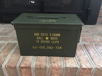Ammo Can Box US Army Military M2A1 50 Cal  Ammo Metal Storage  Sample Pics
