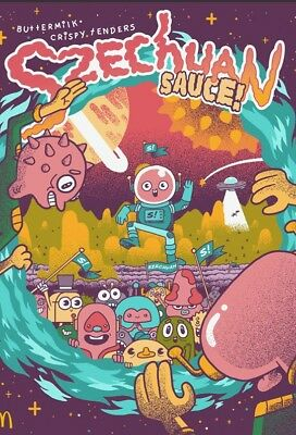 Limited Rick and Morty / McDonald's Szechuan Sauce Original Poster 755/100