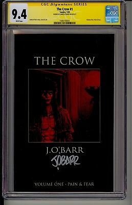 THE CROW #1 CGC 9.4 SS WP  Tundra 1/92  Signed by James O' Barr 1st Print MOVIE!