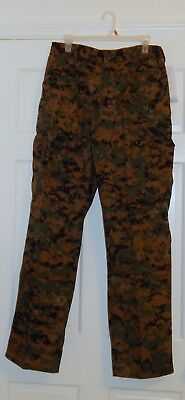 New USMC Woodland Marpat Camouflage Trousers - Size Large-Regular