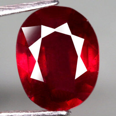 4.02Ct.dazzling! Oval Facet Top Blood Red Natural Ruby Madagascar