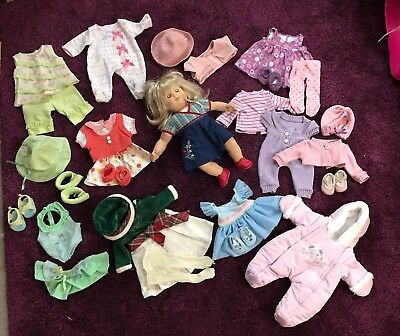 Bitty Baby blond girl twin doll and huge LOT of clothes!