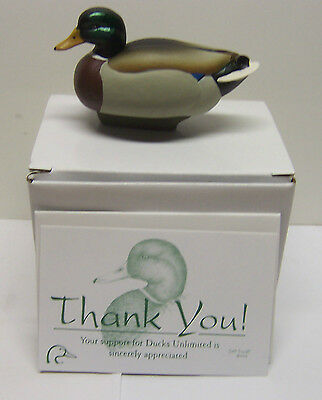 Jett Brunet Ducks Unlimited Miniature Decoy MALLARD LIMITED EDITION  NIB DU .