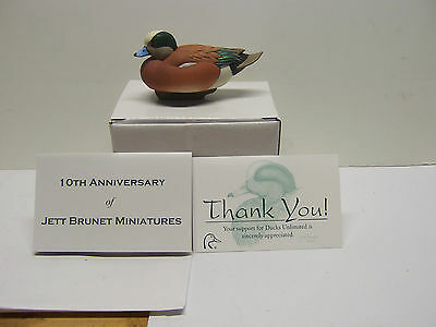 Jett Brunet Ducks Unlimited Miniature Decoys Widgeon LIMITED EDITION NIB DU