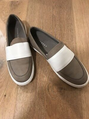 Ladies Trenery Canvas And Leather Shoes Size 39