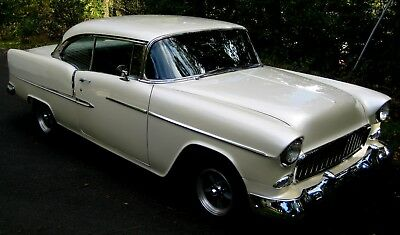 1955 Chevrolet Bel Air/150/210 Sport Coupe 1955 2 Door Sport Coupe,Frame-Off,Resto-Mod,Pearl White,327,700R,PS,ColdAC,FDisc