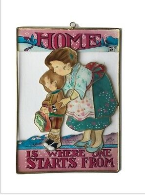 Vtg 1998 Mary Engelbreit Artcatcher HOME IS WHERE ONE STARTS FROM Back To School
