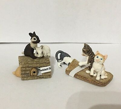 Schleich Playful Kittens & Playing Rabbits Figurines New Set of 2