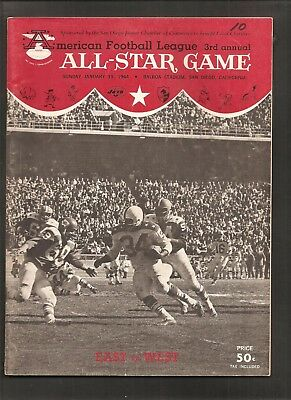 1964 Afl Football All-Star Game Program 3Rd Annual Alworth Kemp Lincoln Otto +++