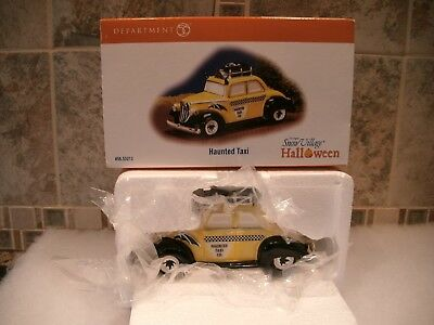Department 56 Snow Village Haunted Taxi Car - MINT-  IN BOX  FREE SHIPPING