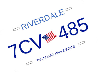 Riverdale License Plate