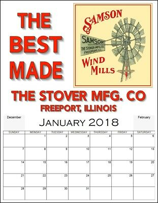Antique Style Advertising Calendar Stover Wind Mill engine farm hit miss weight