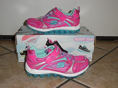 NEW w Box Girls Skech-Air by Skechers Memory Foam athletic sneakers shoes 11 4