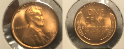 1940 Lincoln Wheat Cent Nice MS/BU RED Lincoln Coin