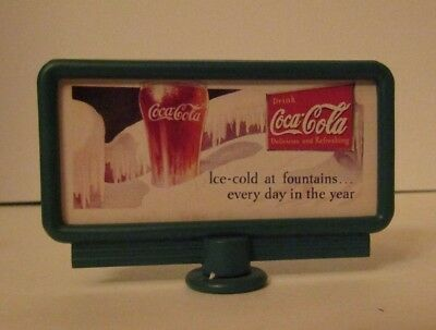 """Coca Cola 1992 Billboard Sign """"Ice-cold at fountains every day in the"""" Village"""