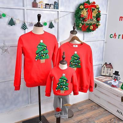 Christmas Sweater for Family Baby Kids Clothing and Cashmere Crewneck Winter