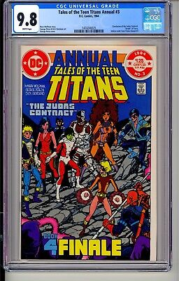 Tales of the Teen Titans Annual #3  CGC 9.8 WP  DC Comics 1984  George Perez!
