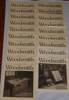 Woodsmith, Notes From The Shop Magazine--Lot Of 19 Issues—1982-1988