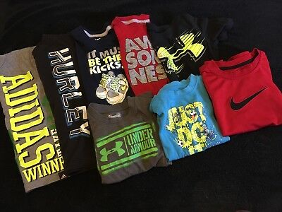 lot 8, 4t boys T-Shirts, Nike, Hurley, Adidas, Under Armour