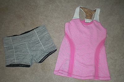Lot of Girls Ivivva by Lululemon Luon Shorts and Tank Top  sz 6