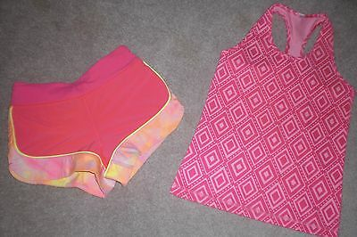 Lot of Girls Ivivva by Lululemon Luon Shorts and Tank sz 6