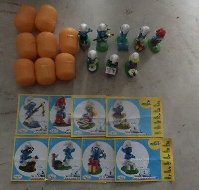 THE SMURFS KINDER SURPRISE FIGURES SET FIGURINES COLLECTIBLES Lot Of 8