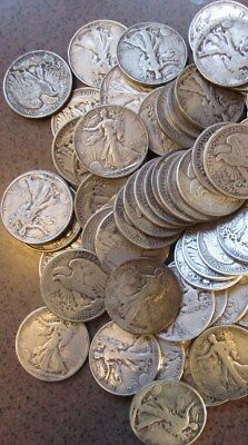 Roll  20  Walking Liberty Half Dollars-Assorted dates and conditions  3.99 Ship