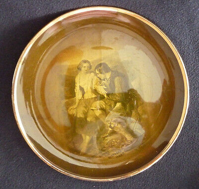 Vintage Ridgways Earthenware c1900 Robbie Burns Highland Mary Sepia Plate