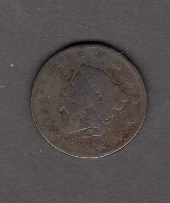 US 1819 Coronet Head Large Cent Coin in AG-G Good Condition