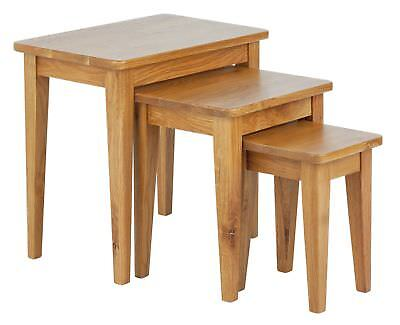 Collection Nest of 3 Tables - Solid Oak