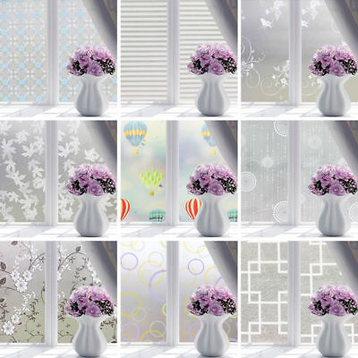 PVC Frosted Glass Window Privacy Self Adhesive Film Sticker Bedroom Bathroom JM8
