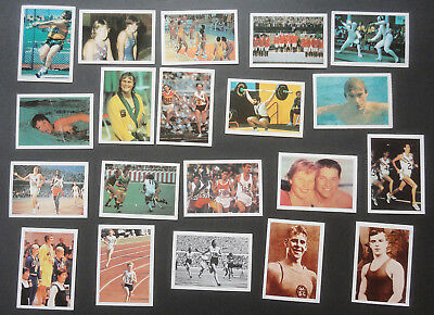 KELLOGGS 1978-1980 Cereal cards AUSTRALIA AT THE OLYMPICS - Full set 20 cards