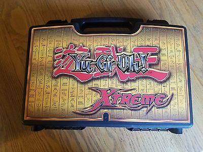 Yugioh Extreme Card Carrying Case Old Black Yellow Holds 1000s of Cards