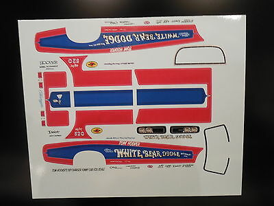 1/16 Scale Tom Hoover's 1971 White Bear Dodge Charger Funny Car Decal/revell/mpc