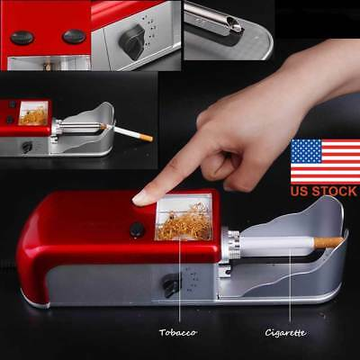 US Cigarette Rolling Machine Electric Automatic Tobacco Roller Injector Maker D#